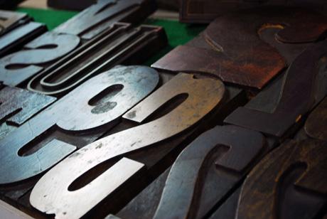 Letterpress blocks, Hamilton Wood Type & Museum