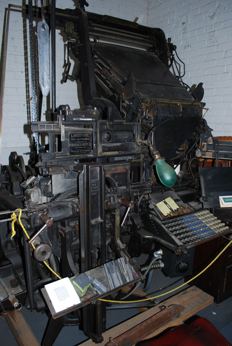 lithograph machine at Hamilton Wood Type & Museum, Two Rivers, WI