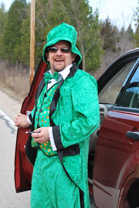 St. Patrick's Day parade at Erin, WIsconsin, Washington Co.