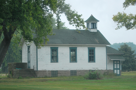 schoolhouse at hwy 51 and A, Edgerton, WI
