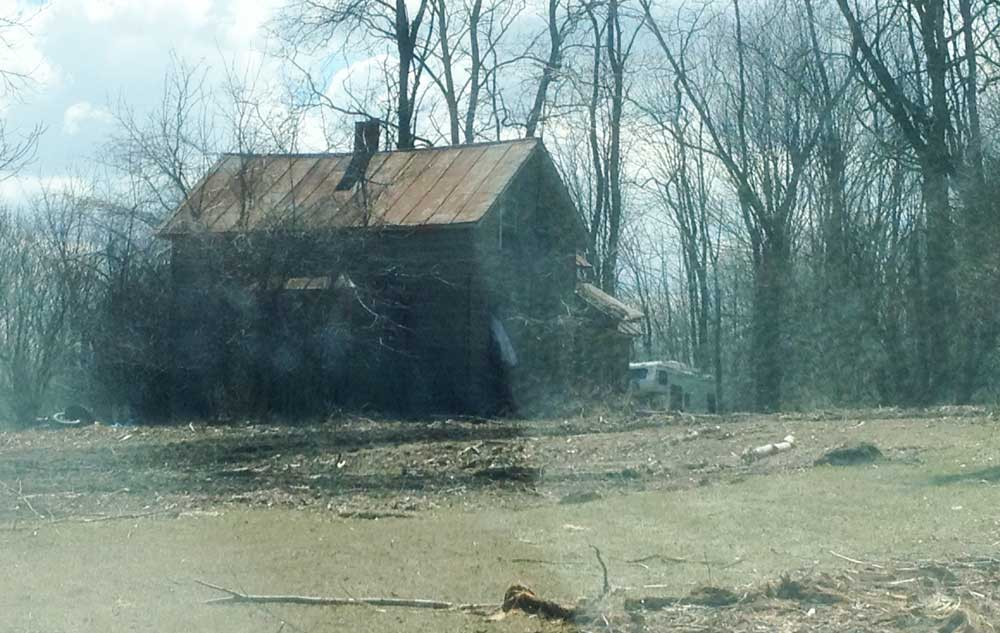 Abandoned farmhouse in Sauk County, WI