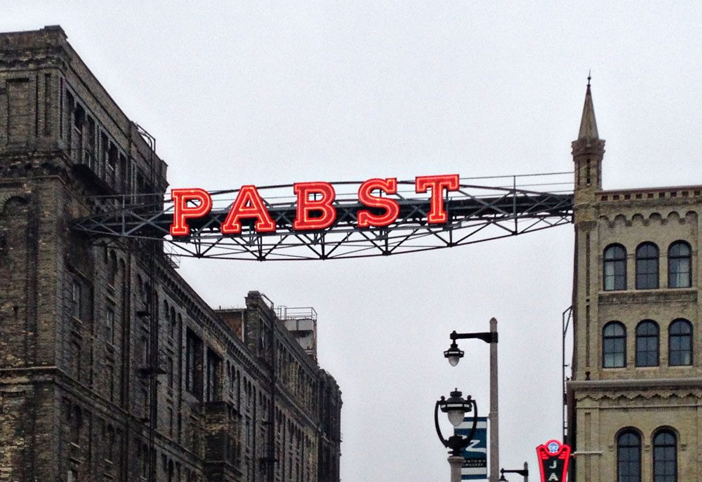 Pabst Brewery Complex sign