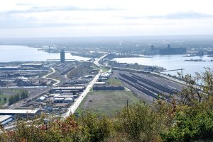View of Duluth, MN from Enger Tower