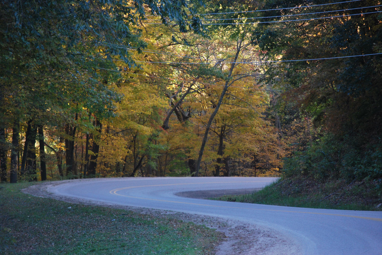 Meandering roads in Sauk County, WIsconsin