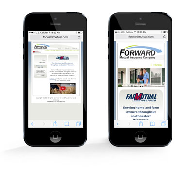 Forward Mutual website on the iphone
