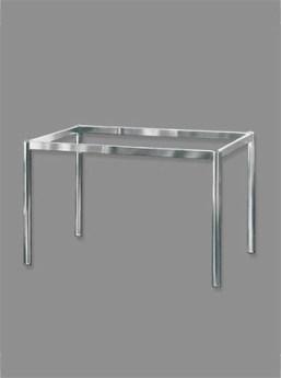 Tischgestell Rundrohr D:40mm verchromt
