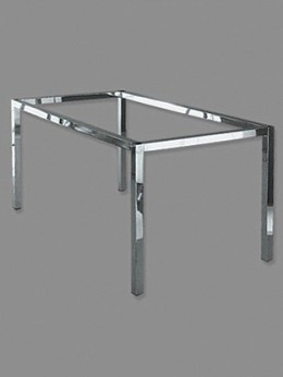 Tischgestell Quadratrohr 40x40mm verchromt
