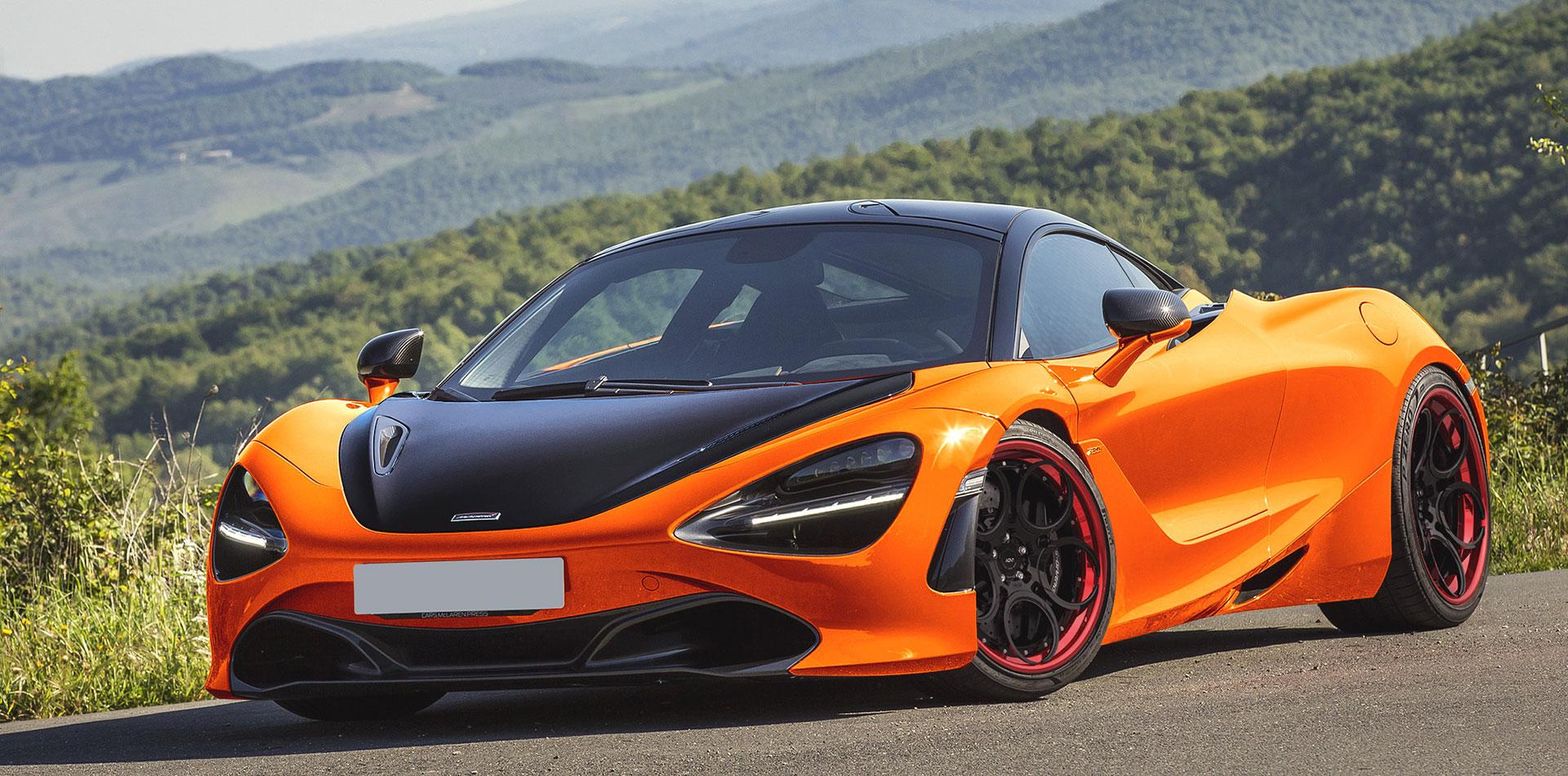 Rendering Orange Mclaren 720s  Adv05c Track Spec Cs