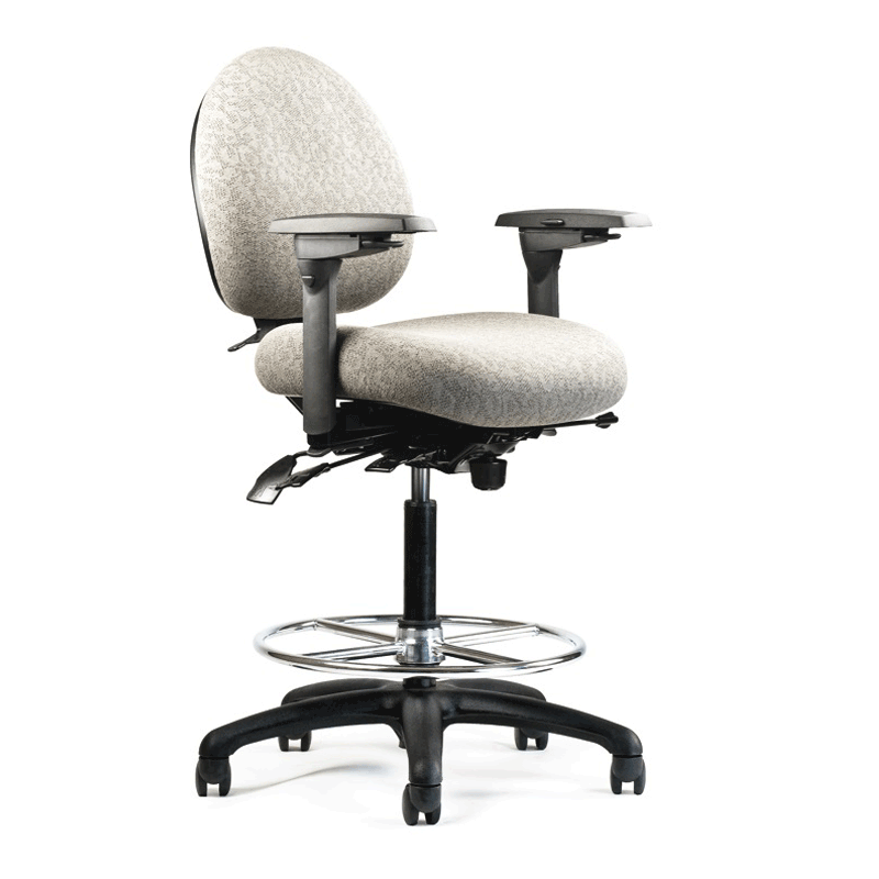 neutral posture chair gliding rocking and ottoman 5500 lab stool nps c1 l4 r2