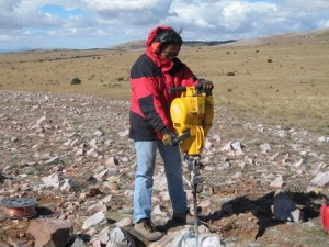 Roy working on a project to build short-drill-braced monuments for a GPS study of the current extension rates across the Rio Grande Rift in New Mexico and Colorado.  The study was funded by the NSF-Earthscope program.