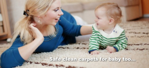 clean carpets for baby