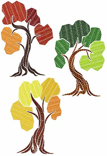 Art Deco Tree : Advanced, Embroidery, Designs