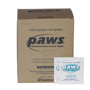 P.A.W.S. Personal Antimicrobial Wipe