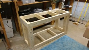 Aquarium fish tank stand homemade diy 2x4