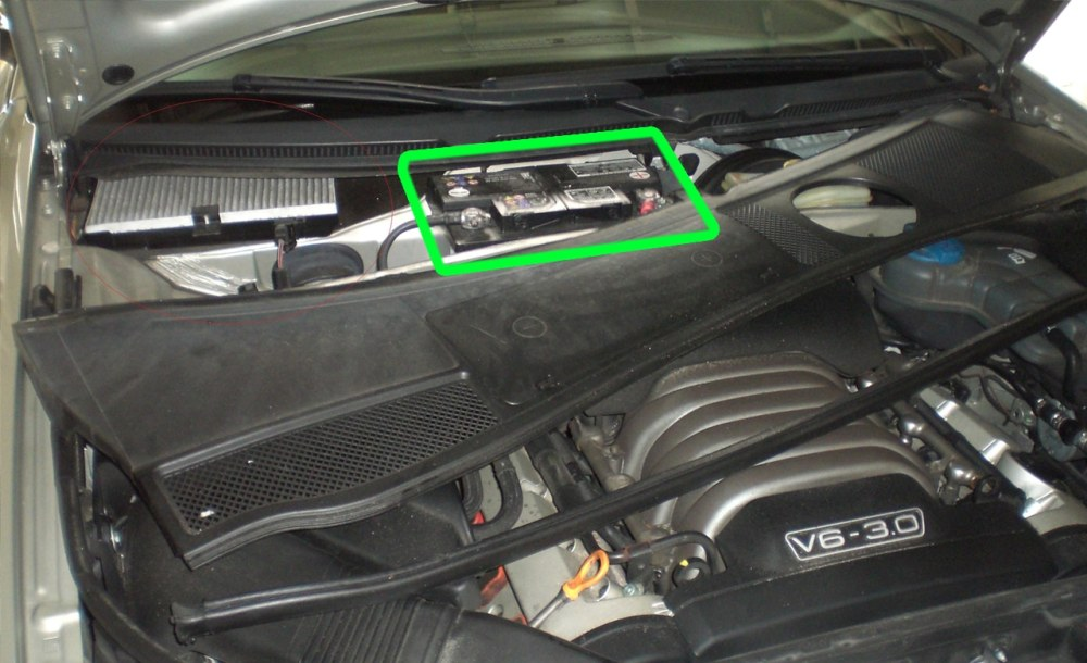 medium resolution of audi a6 car battery location