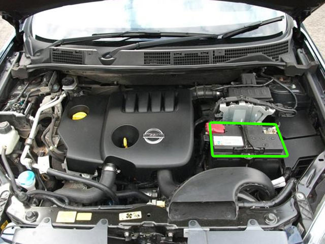 Car Battery And Engine Diagram