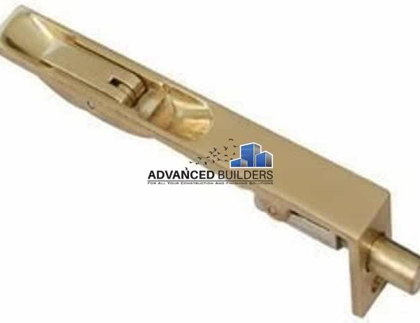"Flush Tower Bolt 6"" Brass for double doors"
