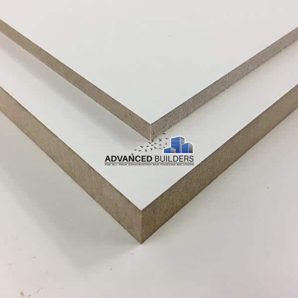 MDF laminated Boards WHITE 8ft x 4ft x 18mm