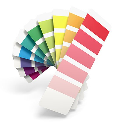 color swatches for web design and digital art