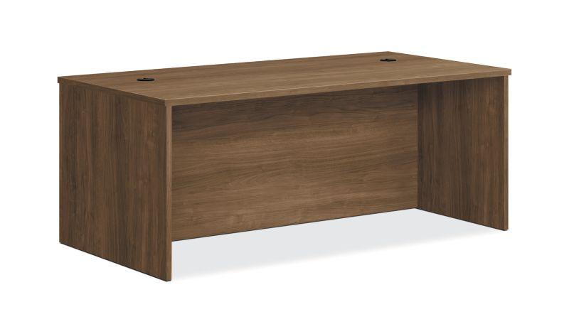 "HON Foundation Desk Shell | 72""W | Pinnacle Finish"