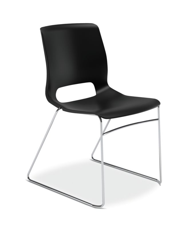 HON Motivate High-Density Stacking Chair | Onyx Shell | 4 per Carton