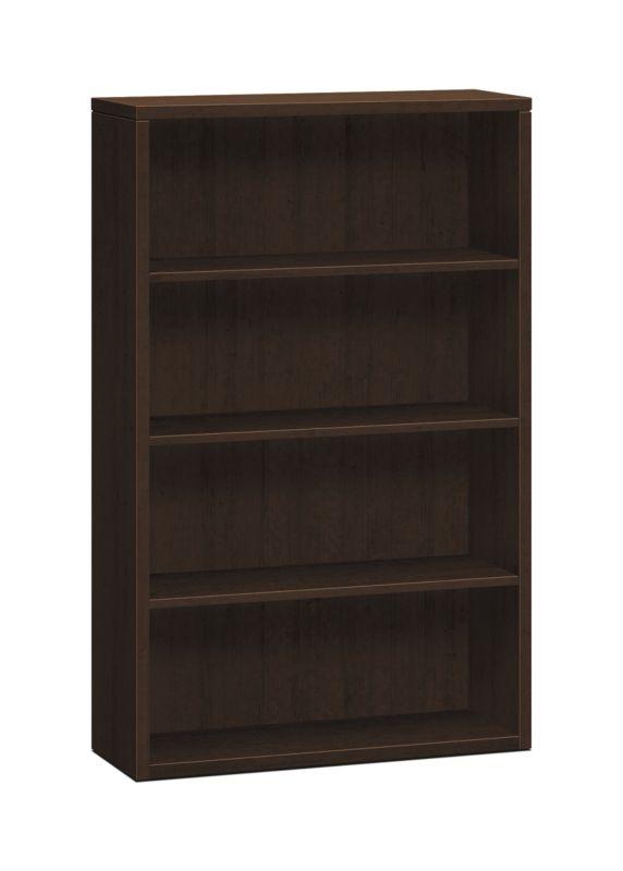 "HON 10500 Series Bookcase | 4 Shelves | 36""W | Mocha Finish"