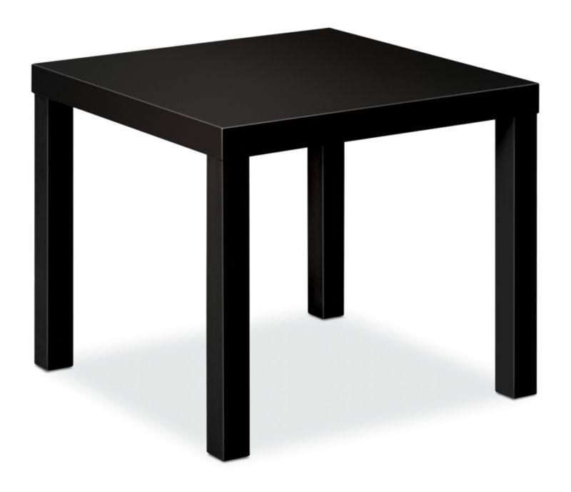 """HON BL Series Corner Table   Flat Edge   24""""W x 24""""D   Black Finish"""