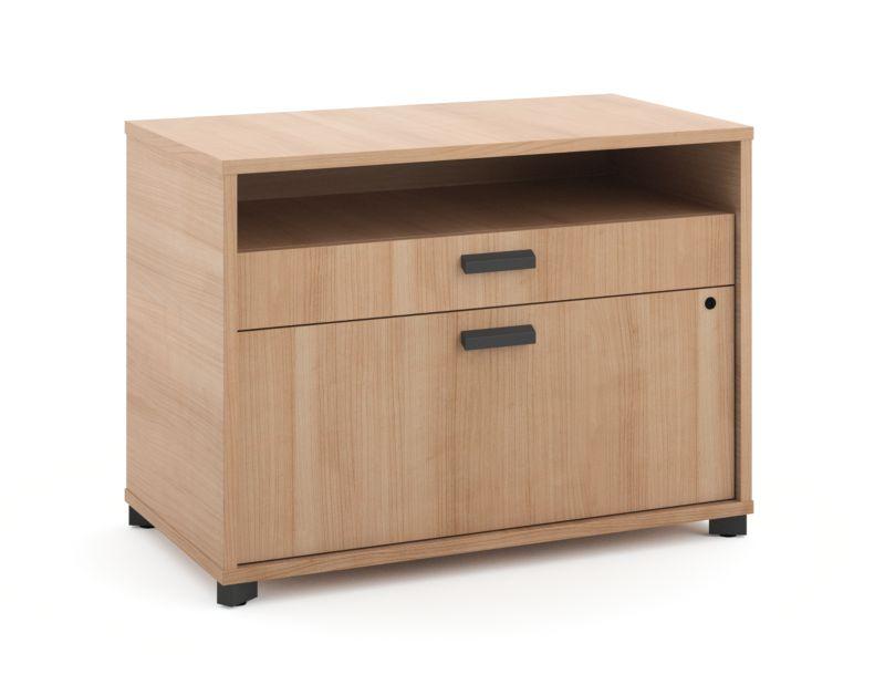 "HON Manage File Center | 1 Shelf / 2 Drawers | 30""W | Wheat Finish"