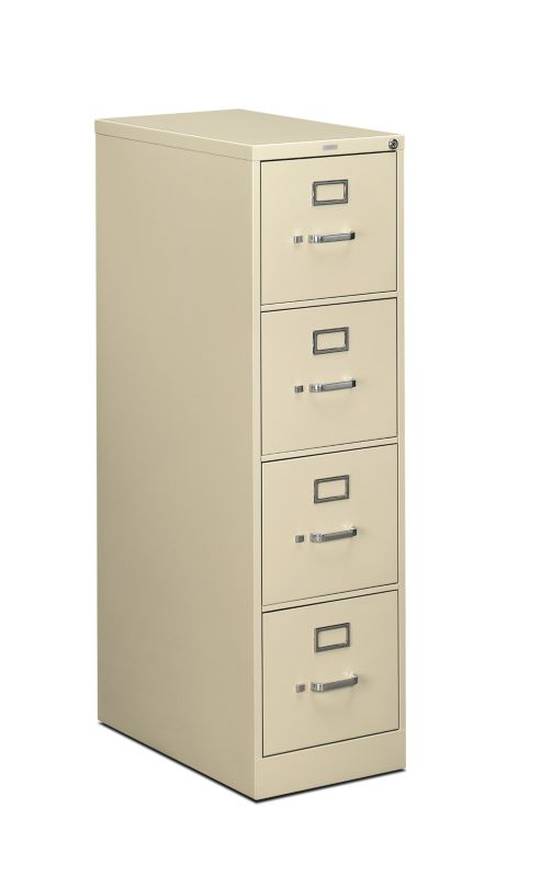 "HON 510 Series Vertical File | 4 Drawers | Letter Width | 15""W x 25""D 
