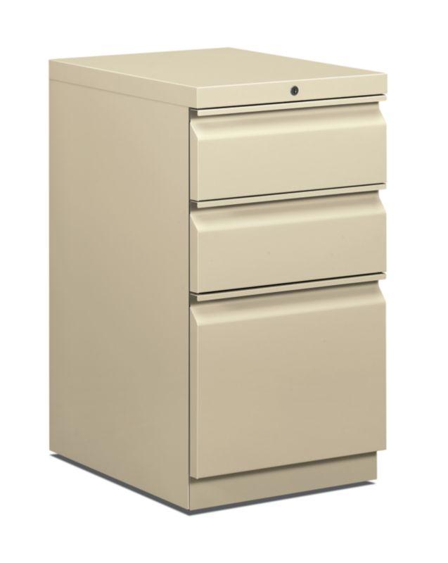 """HON Pedestal File   Box/Box/File   20""""D   Putty"""
