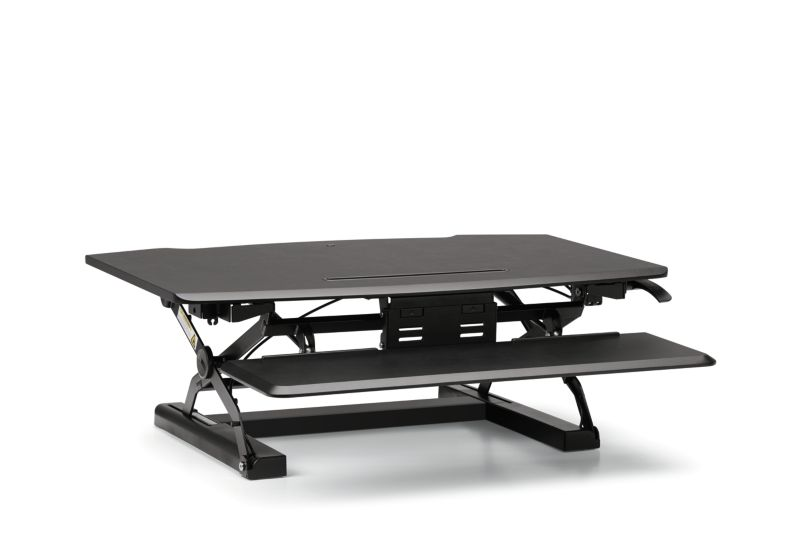 HON Desktop Riser with Keyboard Tray   Black
