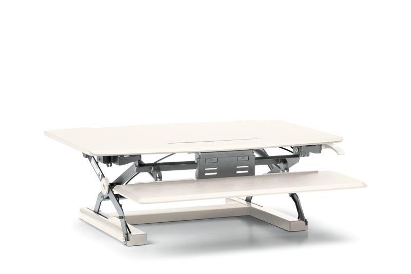 HON Desktop Riser with Keyboard Tray   White