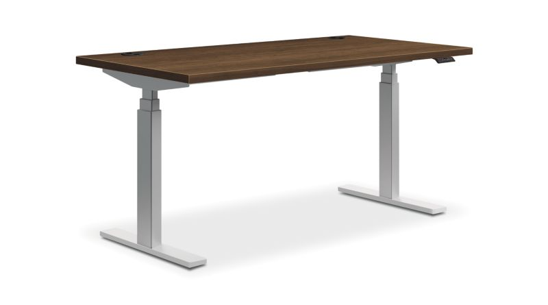"HON Coordinate Height-Adjustable Table | Pinnacle Laminate | 60""W"