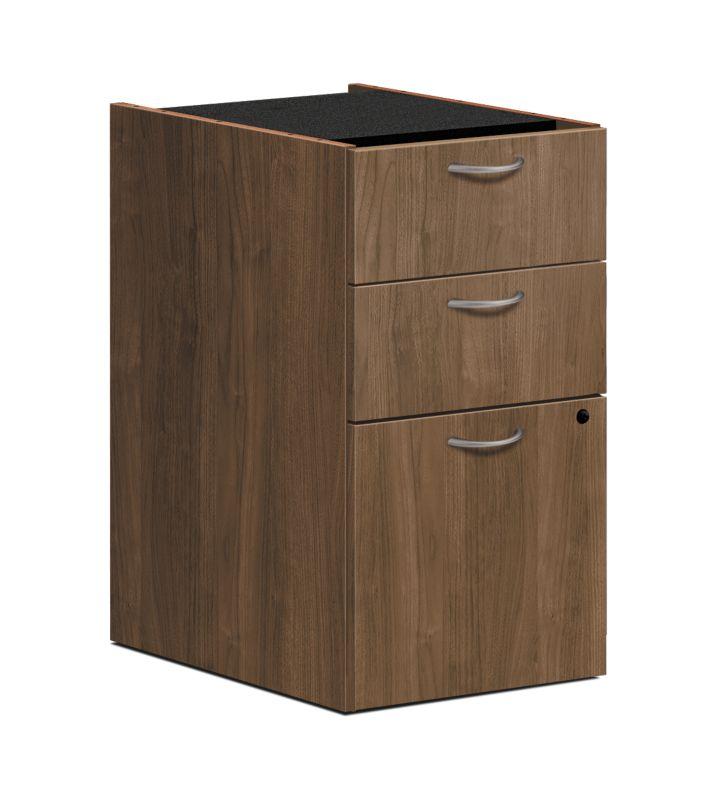 """HON Foundation Pedestal File   2 Box / 1 File Drawer   15-5/8""""W   Pinnacle Finish"""