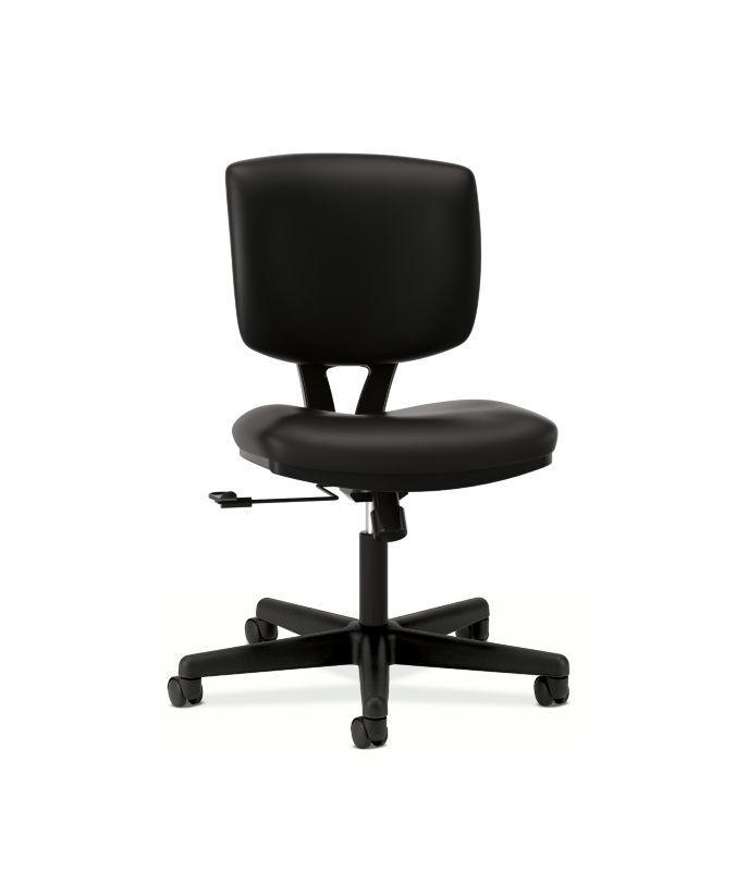 HON Volt Task Chair   Center-Tilt   Black SofThread Leather