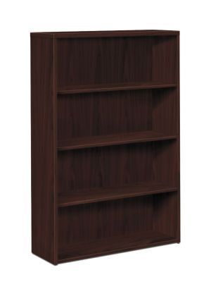 HON 10500 Series Bookcase | 4 Shelves | 36″W x 13-1/8″D x 57-1/8″H | Mahogany Finish