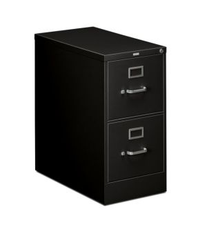 HON 310 Series Vertical File | 2 Drawers | Letter Width | 15″W x 26-1/2″D x 29″H | Black Finish