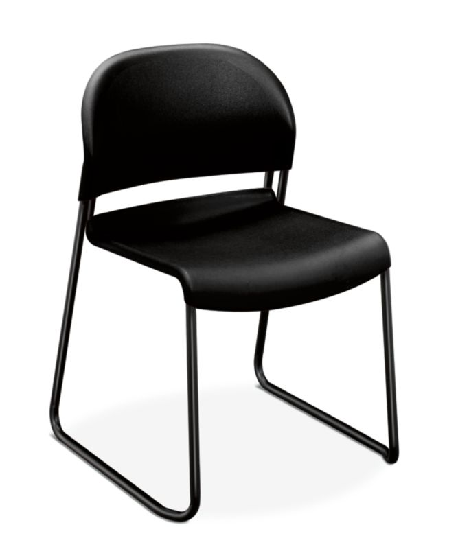 HON GuestStacker High-Density Stacking Chair | Onyx Shell | 4 per Carton