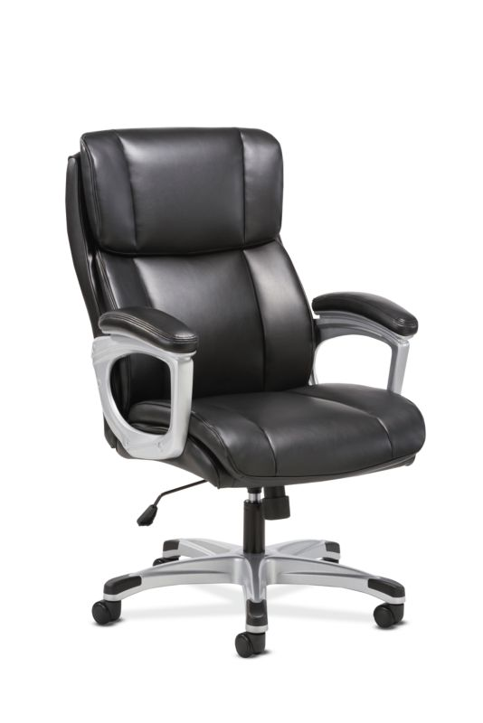 Sadie Executive Chair | Fixed Arms | Black Leather