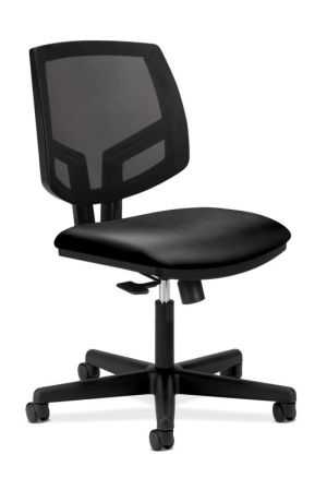 HON Volt Mesh Back Task Chair | Center-Tilt, Tension, Lock | Black SofThread Leather