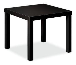 HON BL Series Corner Table | Flat Edge Profile | 24″W x 24″D x 16″H | Black Finish