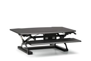 HON Coordinate Desktop Riser with Keyboard Tray | Black