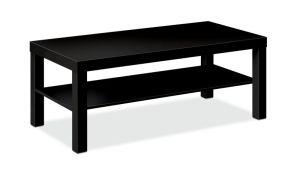 HON BL Series Coffee Table | Flat Edge Profile | 42″W x 20″D x 16″H | Black Finish
