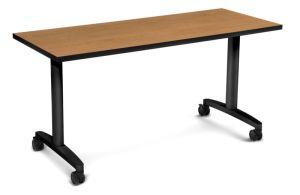HON Huddle Table | Flip Base | Harvest Laminate | 60″W x 24″D