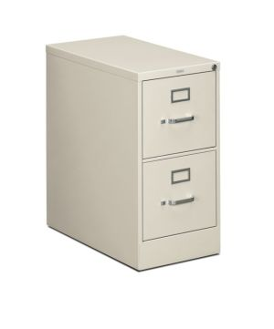 HON 310 Series Vertical File | 2 Drawers | Letter Width | 15″W x 26-1/2″D x 29″H | Light Gray Finish