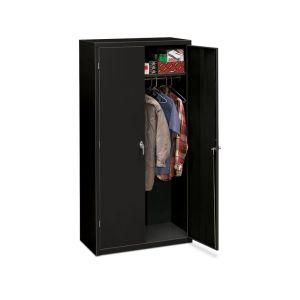 HON Brigade Storage Cabinet | 5 Adjustable Shelves | 36″W x 18-1/8″D x 72″H | Black Finish