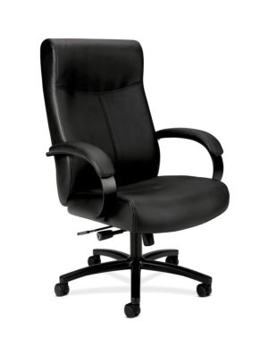 HON Validate Big and Tall Executive Chair | Center-Tilt, Tension, Lock | Black SofThread Leather