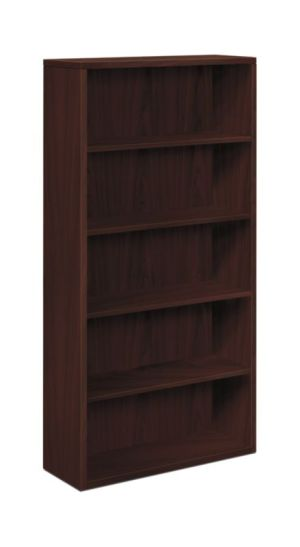 HON 10500 Series Bookcase | 5 Shelves | 36″W x 13-1/8″D x 71″H | Mahogany Finish