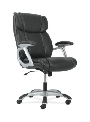 Sadie High-Back Executive Chair | Black Leather
