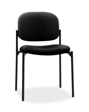 HON Scatter Stacking Guest Chair   Black Fabric
